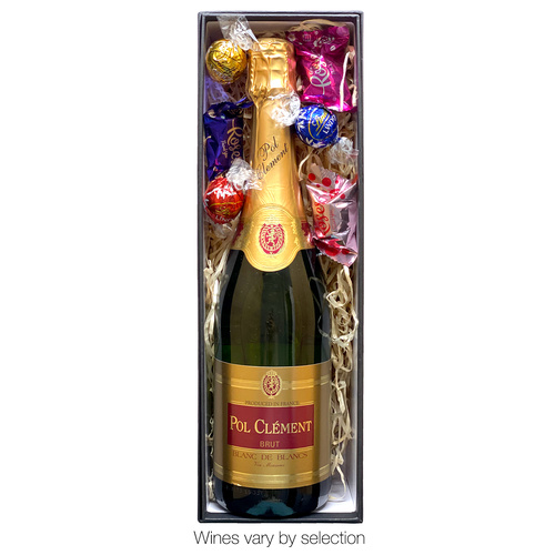 Sparkling Wine and Chocolates in Premium Cardboard Gift Box